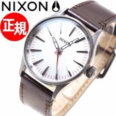 ニクソン NIXON セントリー 38 レザー SENTRY 38 LEATHER 腕時計 メンズ/レディース ガンメタル/シルバー/ダークブラウン NA3772665-00