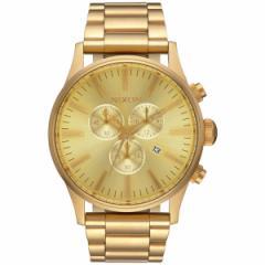 ニクソン NIXON セントリークロノ SENTRY CHRONO 腕時計 メンズ オールゴールド NA386502-00