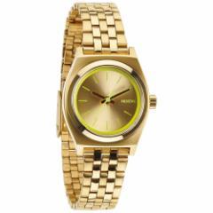ニクソン NIXON スモールタイムテラー SMALL TIME TELLER 腕時計 レディース ゴールド/ネオンイエロー NA3991618-00
