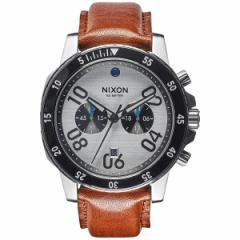 ニクソン NIXON レンジャークロノレザー RANGER CHRONO LEATHER 腕時計 メンズ クロノグラフ シルバー/サドル NA9402092-00