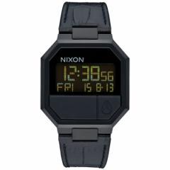 ニクソン NIXON リランレザー RE-RUN LEATHER 腕時計 メンズ ブラッククロコ デジタル NA944840-00