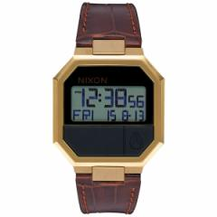 ニクソン NIXON リランレザー RE-RUN LEATHER 腕時計 メンズ ブラウンクロコ デジタル NA944849-00