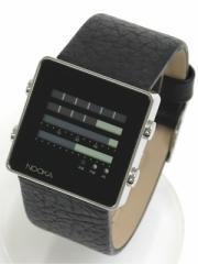 NOOKA ヌーカ 腕時計 ZEN-H ブラック×ブラックレザーバンド