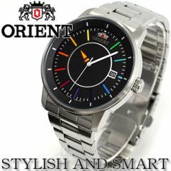 オリエント ORIENT スタイリッシュ&スマート ディスク DISK レインボー 腕時計 メンズ 自動巻き WV0761ER