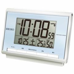セイコー SEIKO 電波クロック 目覚まし時計 電波時計 デジタル 温度・湿度表示つき SQ698L