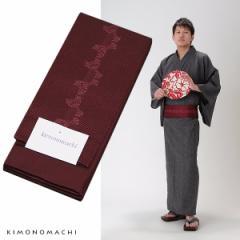 角帯 男性用浴衣帯「赤紫色 束ね熨斗」京都きもの町オリジナル 男性用帯 角帯 小袋帯