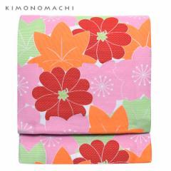 お仕立て上がり 京袋帯「カラフル 桜と楓」 全通柄 カジュアル帯 洒落帯 袋名古屋帯