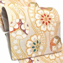 振袖 袋帯「白色 立涌に花文」振袖に お仕立て上がり 礼装帯 振袖帯 [送料無料]