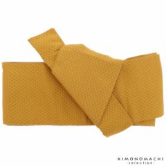 ワンタッチ 角帯「からし色 鱗」 作り帯 付け帯 浴衣帯