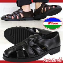 即納 あす着 送料無料 Wilson 3600 メンズ カメ サンダル ウィルソン 室内履き オフィス カジュアル スリッポン 通気性 メッシュ 紳士靴