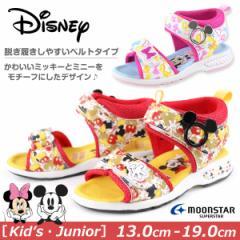 即納 あす着 サンダル スポーツ 子供 キッズ ジュニア 靴 Disney C1166 ディズニー ミッキーマウス ミニーマウス tok