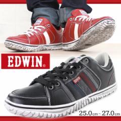即納 あす着 スニーカー ローカット メンズ 靴 EDWIN ED-7137 エドウィン