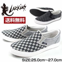 即納 あす着 送料無料 スニーカー スリッポン メンズ 靴 LARKINS L-6527 ラーキンス