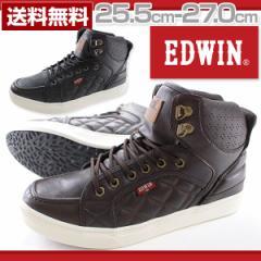 即納 あす着 送料無料 エドウィン スニーカー ハイカット メンズ 靴 EDWIN EDW-5055