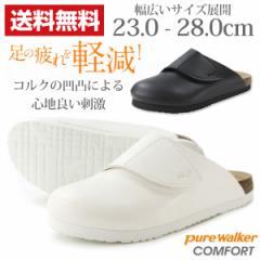 即納 あす着 送料無料 ピュアウォーカー サンダル オフィス レディース メンズ 靴 pure walker COMFORT PW7931