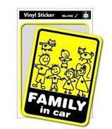 オモシロ雑貨 FAMILY IN CAR ステッカー