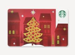 スターバックス カード クリスマスツリー