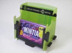 MINTIA 携帯とミンティアが立つスタンド limegreen