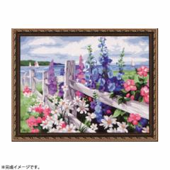【送料無料】パズル絵画 絵具・筆付き F060