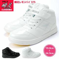 瞬足 シュンソク レモンパイ 375 キッズスニーカー SYUNSOKU Lemonpie 2E設計 アキレス キッズスニーカー 子供靴 ジュニア こども 靴 白
