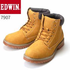エドウィン ワークブーツ ED 7907 メンズブーツ EDWIN 靴 カジュアルシューズ マウンテンブーツ トレッキングブーツ  (1710)