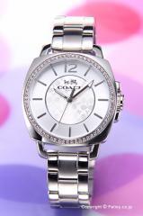 COACH コーチ 腕時計 レディース ボーイフレンド ミニ クリスタル シルバー 14502147