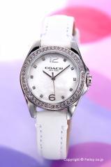 COACH コーチ 腕時計 レディース トリステン ミニ ホワイトパール/ホワイトレザー 14502175