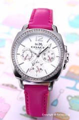 COACH コーチ 腕時計 レディース ボーイフレンド シルバー(Withクリスタル) 14502142