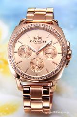 COACH コーチ 腕時計 レディース ボーイフレンド ローズゴールド(Withクリスタル) 14502081