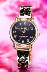 COACH コーチ レディース腕時計 14502374 デランシー ブラック×ゴールド