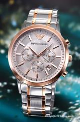 エンポリオアルマーニ EMPORIO ARMANI 腕時計 メンズ Classic Chronograph Collection AR11077
