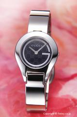 GUCCI グッチ 腕時計 レディース 6700シリーズ ブラック(Gミラー) バングル YA067508