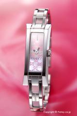 GUCCI グッチ 腕時計 レディース G-リンクバングル ピンクパール(GGパターン) YA110524
