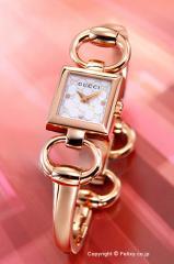 GUCCI グッチ 腕時計 レディース トルナブォーニ ローズゴールド×ホワイトパール(グッチシマダイアルバージョン) YA120519