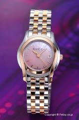 GUCCI グッチ 腕時計 レディース G-クラス クラシック ピンクパール×ローズゴールド YA055539