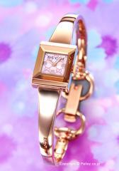 GUCCI グッチ 腕時計 レディース G-フレーム コレクション ピンクパール(グッチシマ)×ローズゴールド YA128518