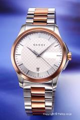 グッチ 腕時計 レディース GUCCI YA126447 G-タイムレス シルバー×ピンクゴールド