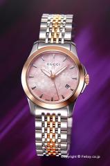 グッチ 腕時計 レディース GUCCI YA126536 G-タイムレス SRG ピンクパール スモールバージョン