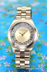 マークバイマークジェイコブス 腕時計 レディース ヘンリー スケルトン ゴールド MBM3292