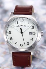 マークバイマークジェイコブス 腕時計 メンズ MBM5045 Jimmy (ジミー) ホワイト(ストライプ)/ブラウンレザー