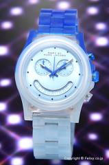 MARC BY MARCJACOBS マークバイマークジェイコブス 腕時計 MBM4577 Raver Chrono (レイバー クロノ) フェードブルー×ディープブルー