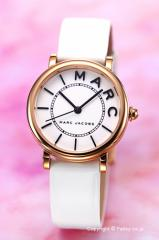 マークジェイコブス MARC JACOBS 腕時計 Roxy28 ホワイト×ローズゴールド MJ1562