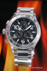 ニクソン NIXON 腕時計 レディース THE 42-20 Chrono ブラック A037-000 【A037000】