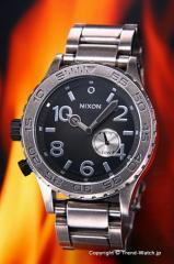 NIXON ニクソン 腕時計 レディース THE 42-20 Tide アンティークシルバー/ブラック A035-479 【A035479】
