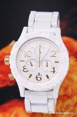 ニクソン NIXON 腕時計 レディース THE 42-20 クロノグラフ オールホワイト/ゴールド A037-1035 【A0371035】
