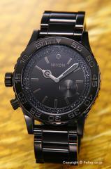 NIXON ニクソン 腕時計 レディース 42-20 Tide オールブラック/ブラッククリスタル A035-1150 【A0351150】