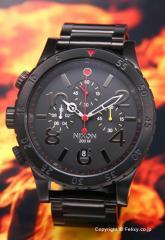 NIXON ニクソン 腕時計 メンズ 48-20 Chrono (48-20 クロノ) オールブラック/マルチ A4861320 【A486-1320】