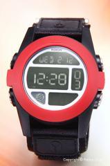 NIXON ニクソン 腕時計 メンズ デジタルウォッチ BAJA オールブラック/レッド A489760 【A489-760】