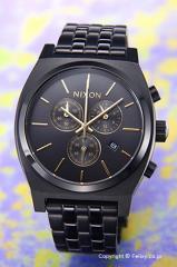 ニクソン NIXON 腕時計 タイムテラー クロノ オールブラック/ゴールド A9721031