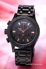 ニクソン 腕時計 NIXON 38-20 CHRONO All Black / Rose Gold A404957